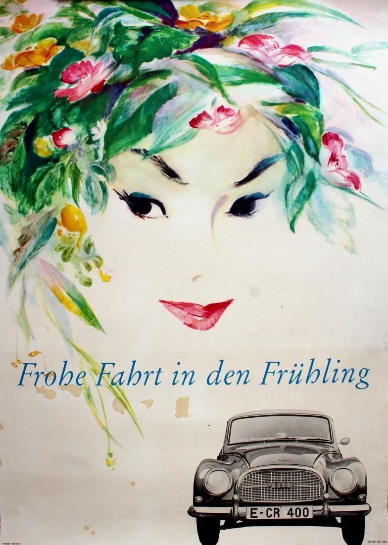 Original  Advertising Poster Audi DKW Merry Ride