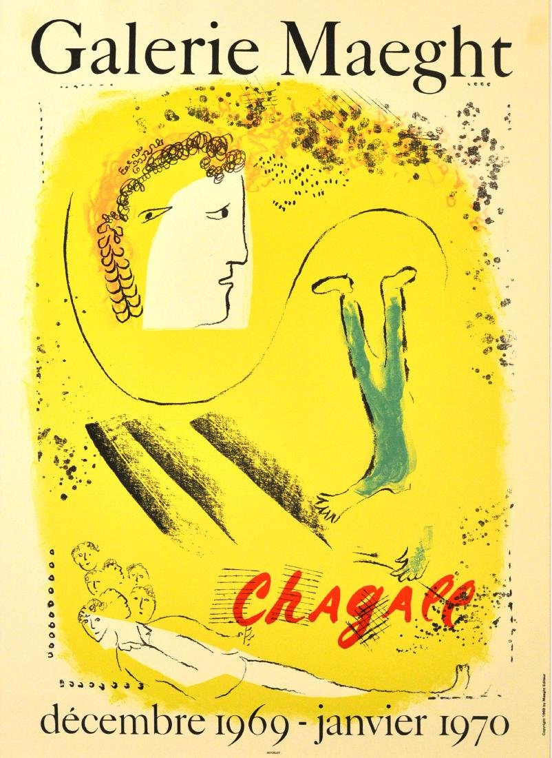 Original  Advertising Poster Galerie Maeght Chagall Le