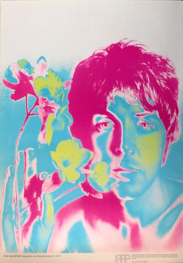 Original  Advertising Poster Beatles Paul McCartney