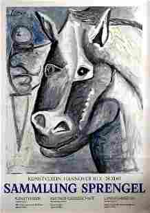Original Advertising Poster Picasso Exhibition