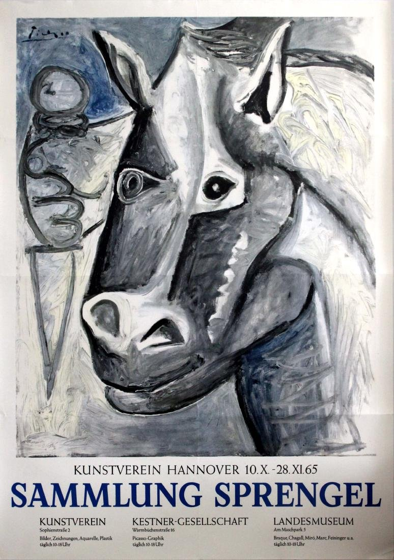Original  Advertising Poster Picasso Exhibition
