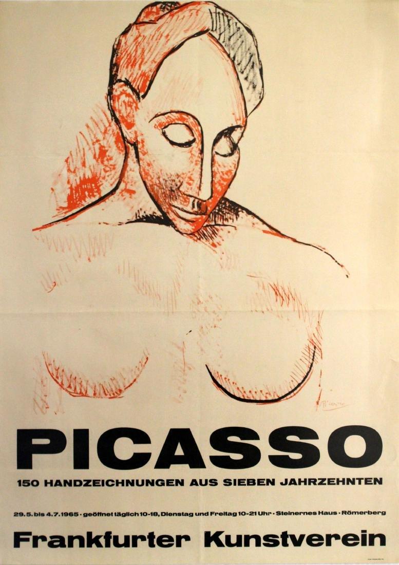 Original  Advertising Poster Picasso Frankfurt 1965