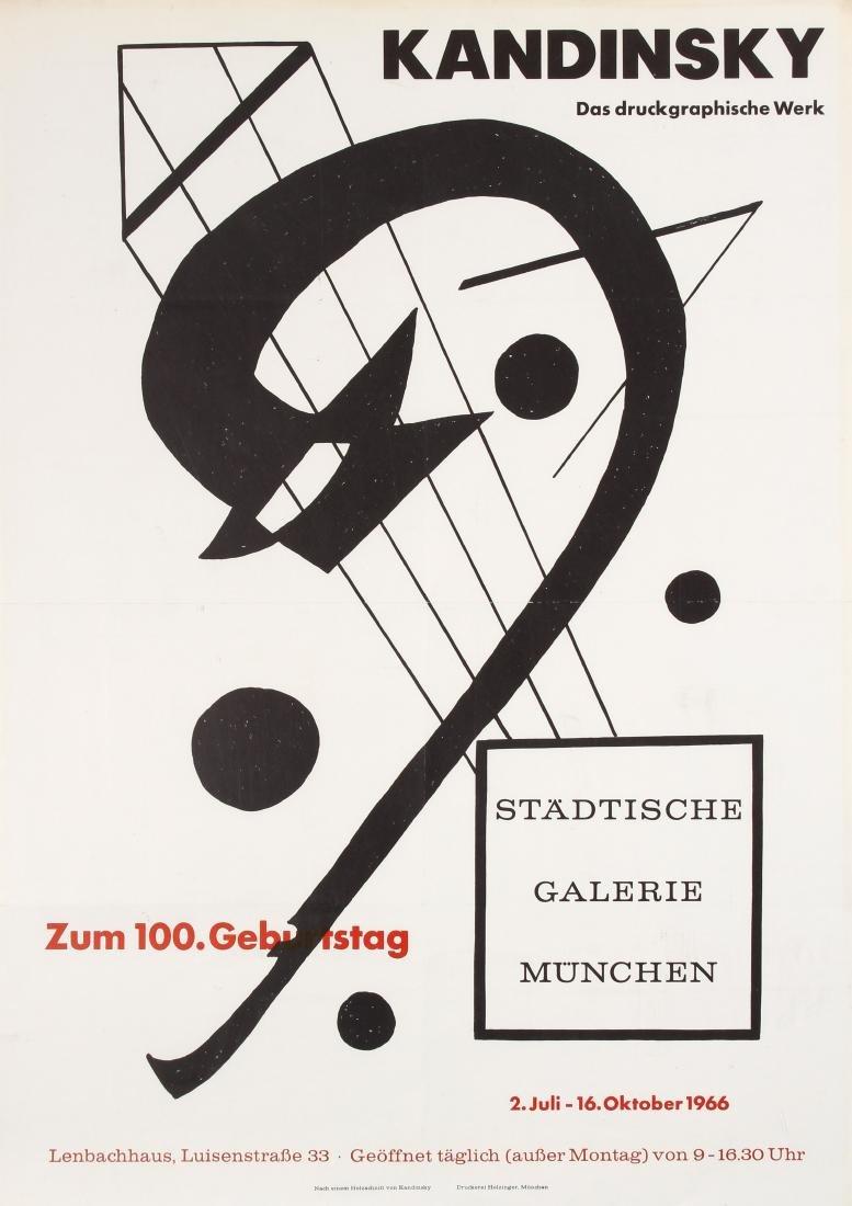 Original  Advertising Poster Kandinsky Graphic Works
