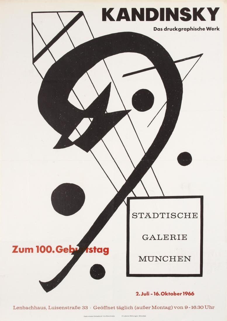 Original  Advertising Poster Kandinsky Graphic Works