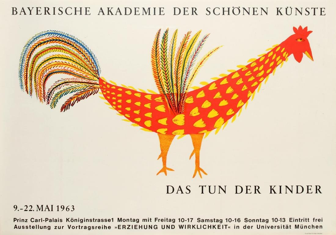 Original  Advertising Poster Children Art Bavarian