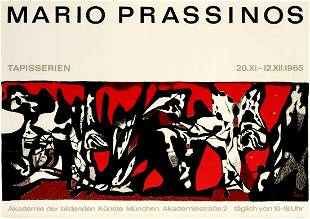Original Advertising Poster Mario Prassinos Tapestry