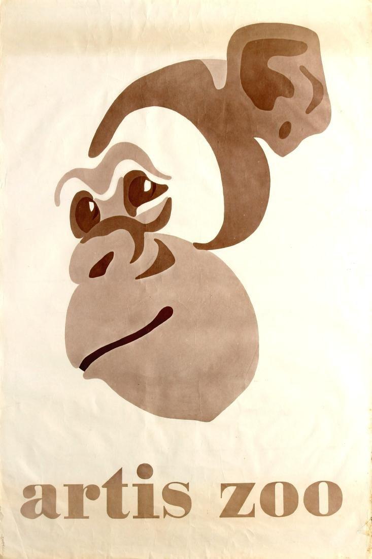 Original  Advertising Poster Artis Zoo Natura Artis