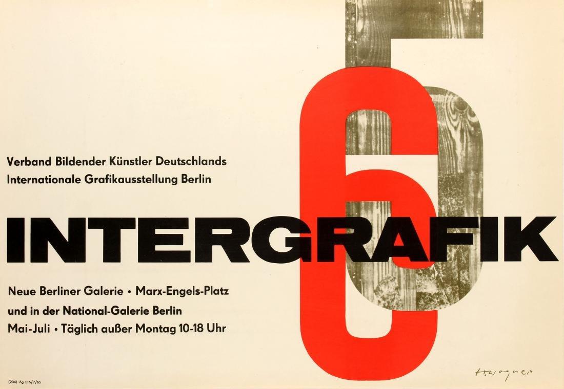 Original  Advertising Poster Intergrafik 65 German