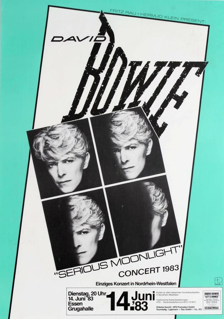 Original  Advertising Poster David Bowie Serious