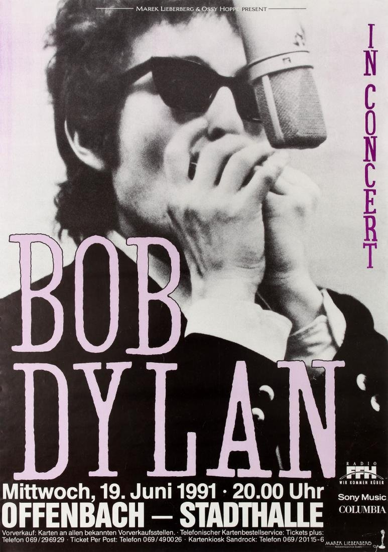 Original  Advertising Poster Bob Dylan In Concert 1991