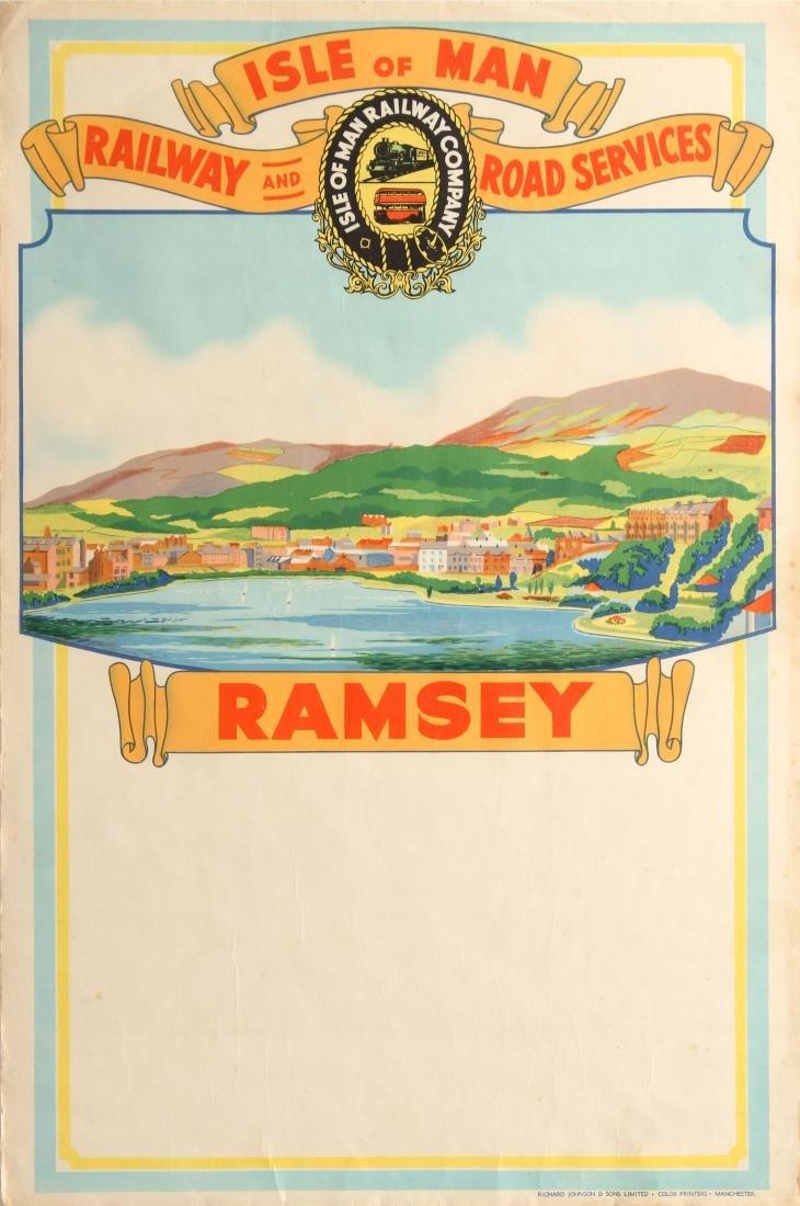 Original  Travel Poster Isle of Man Ramsey Railway And
