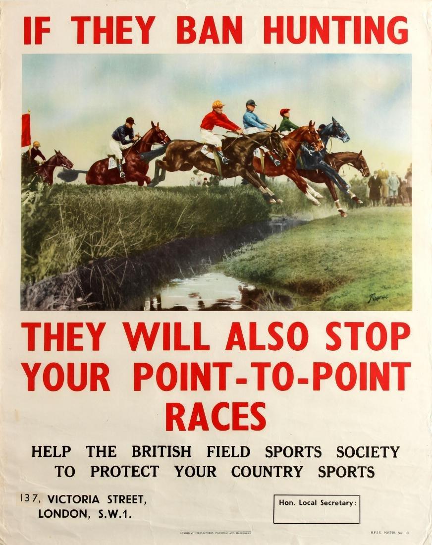Original  Sport Poster British Field Sports Society