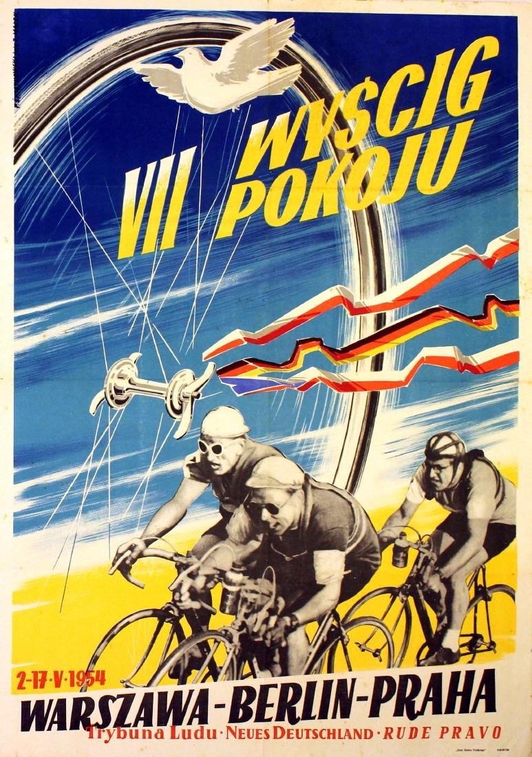 Original  Sport Poster Peace Cycling Competition 1954