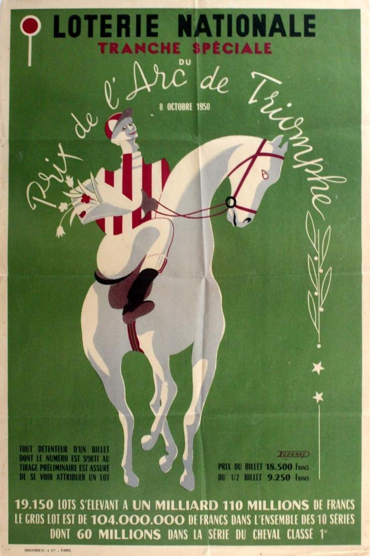 Original  Sport Poster Prix de l'Arc de Triomphe Horse
