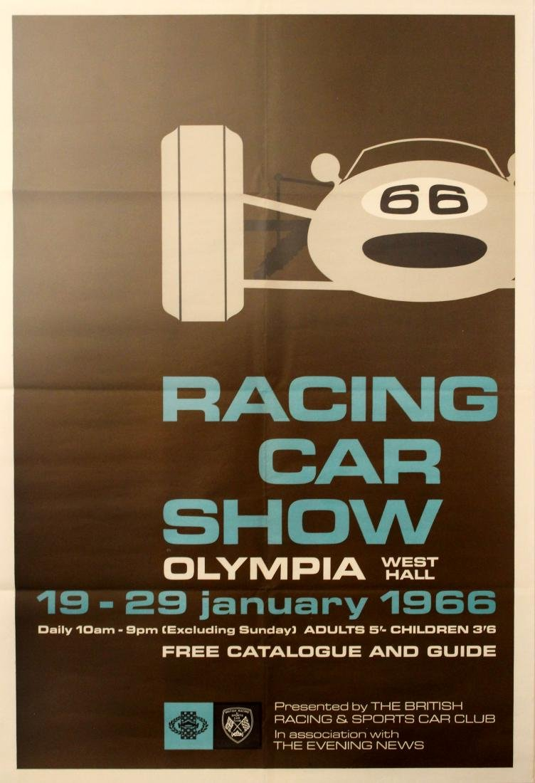 Original  Sport Poster Racing Car Show Olympia