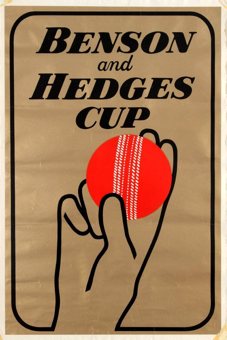 Original  Sport Poster Benson And Hedges Cup Cricket