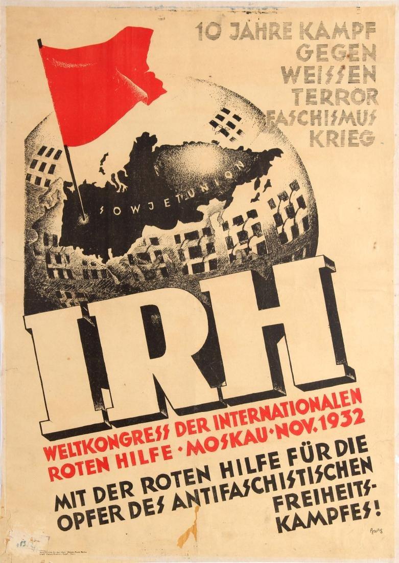 Original  Propaganda Poster Commuism IRH World Congress