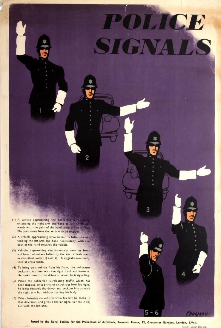 Original  Propaganda Poster Police Signals