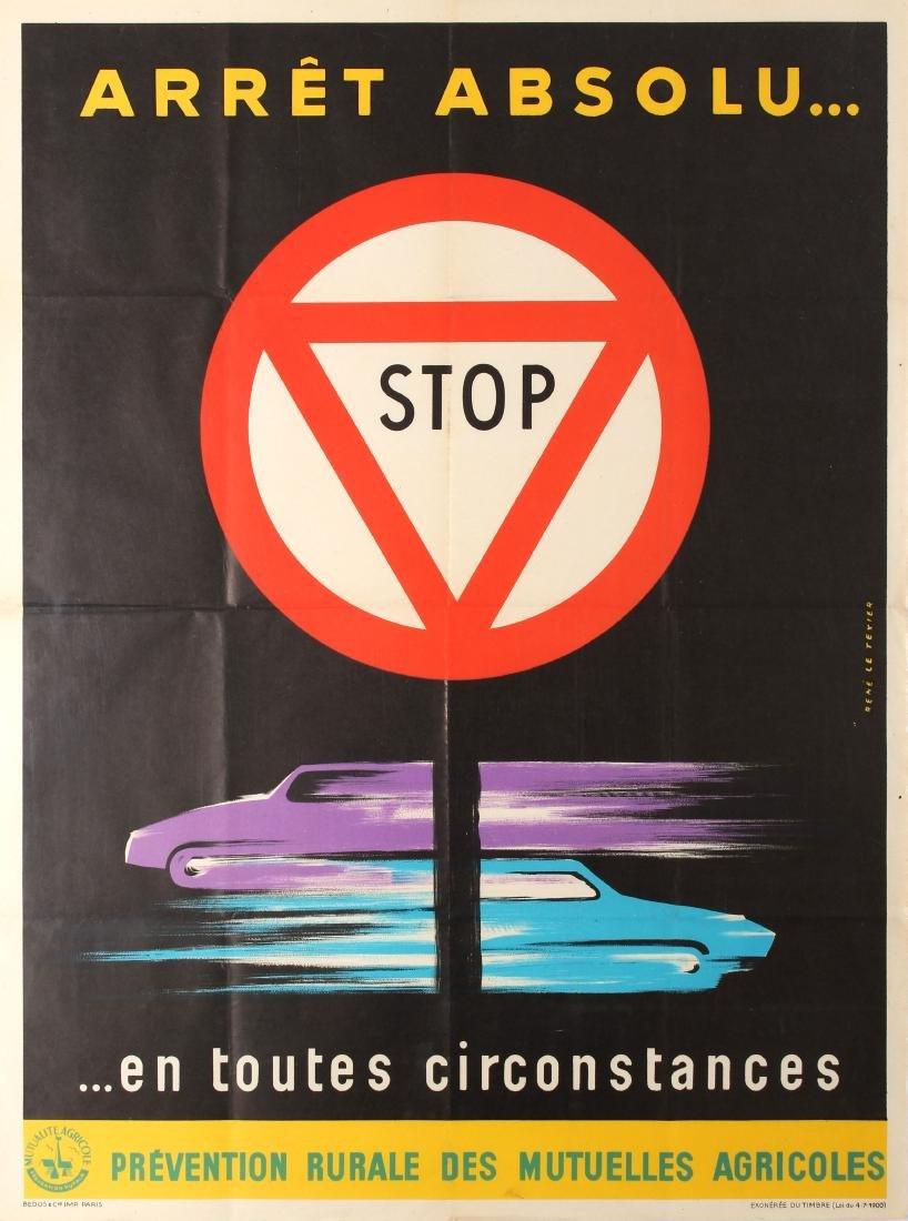 Original  Propaganda Poster Stop Arret Absolu Safe