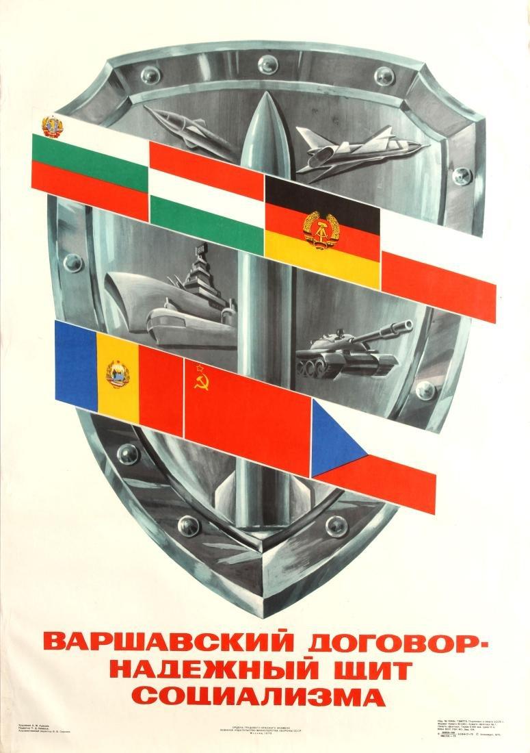 Original  Propaganda Poster Warsaw Pact Shield of