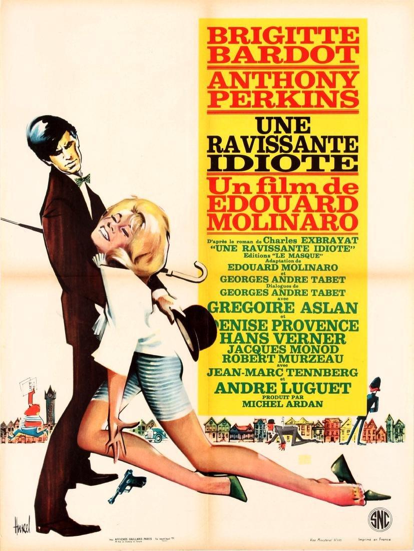 Original  Cinema Poster Ravishing Idiot Bardot Perkins