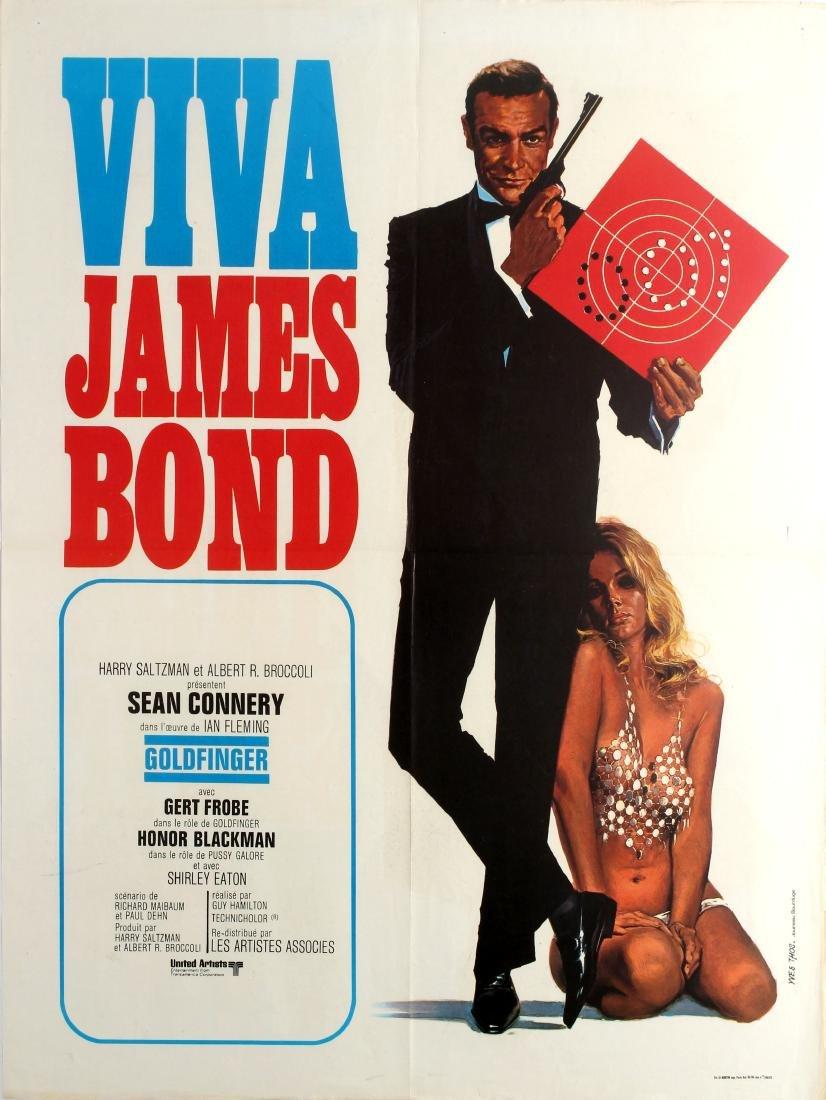 Original  Cinema Poster James Bond Goldfinger France