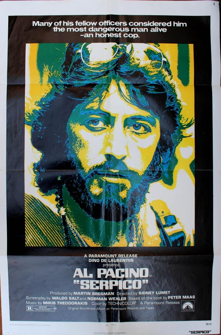 Movie Poster Serpico Al Pacino