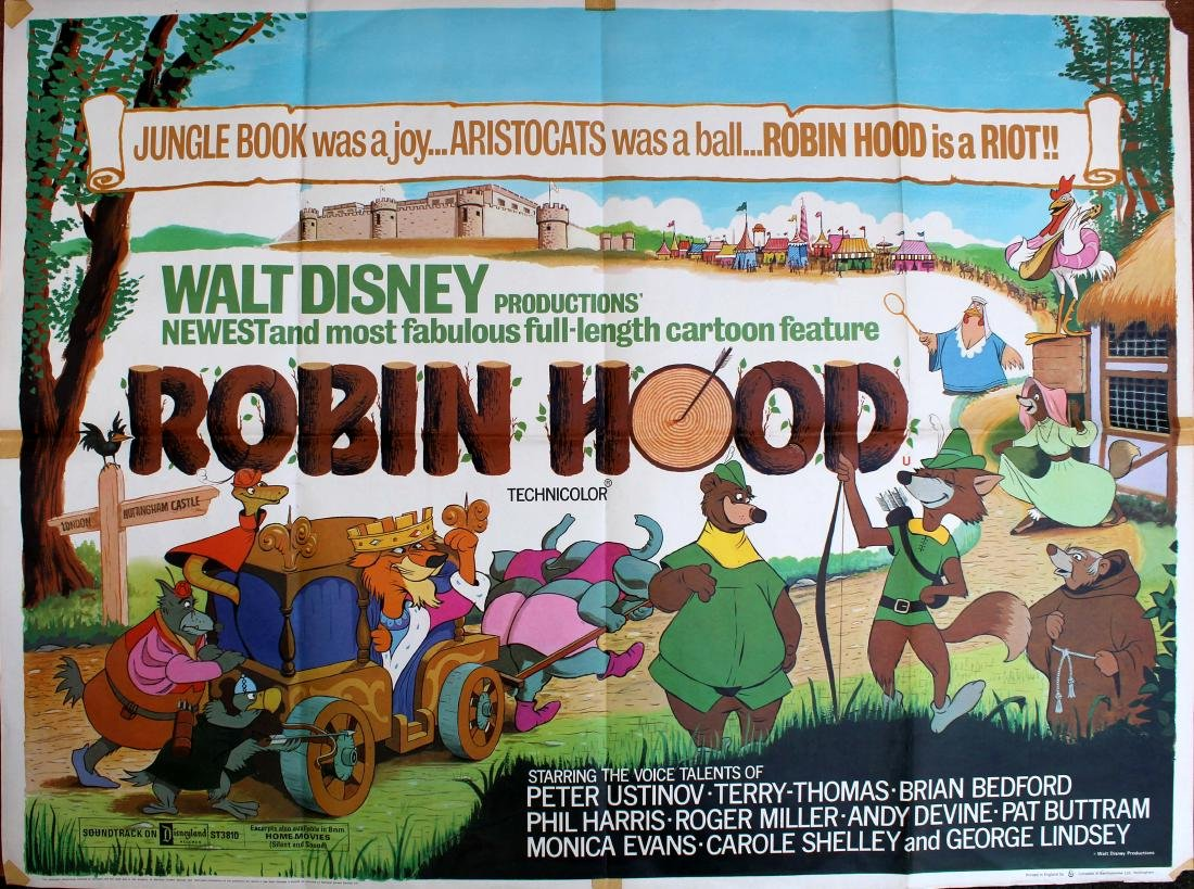 Movie Poster Robin Hood Disney