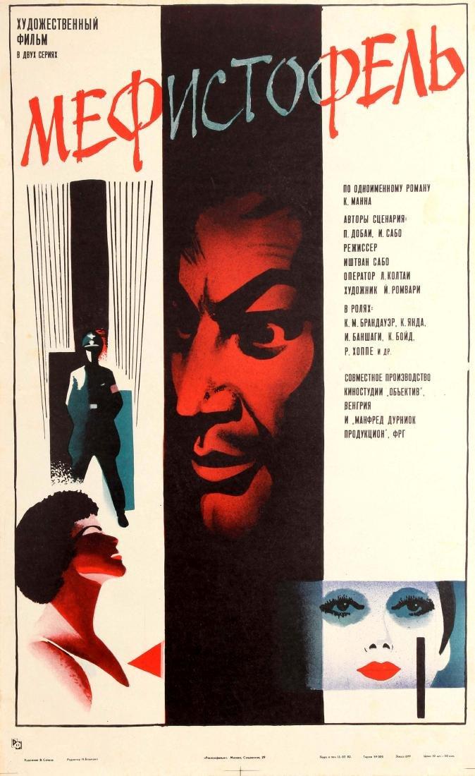 Original  Soviet Film Poster Mephisto Klaus Mann Istvan
