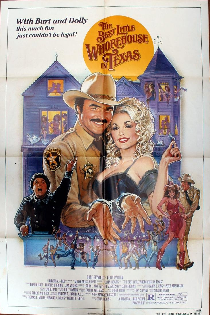 Movie Poster The Best Little Whorehouse in Texas Dolly