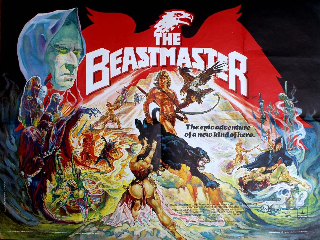 Movie Poster The Beastmaster Fantasy SciFi