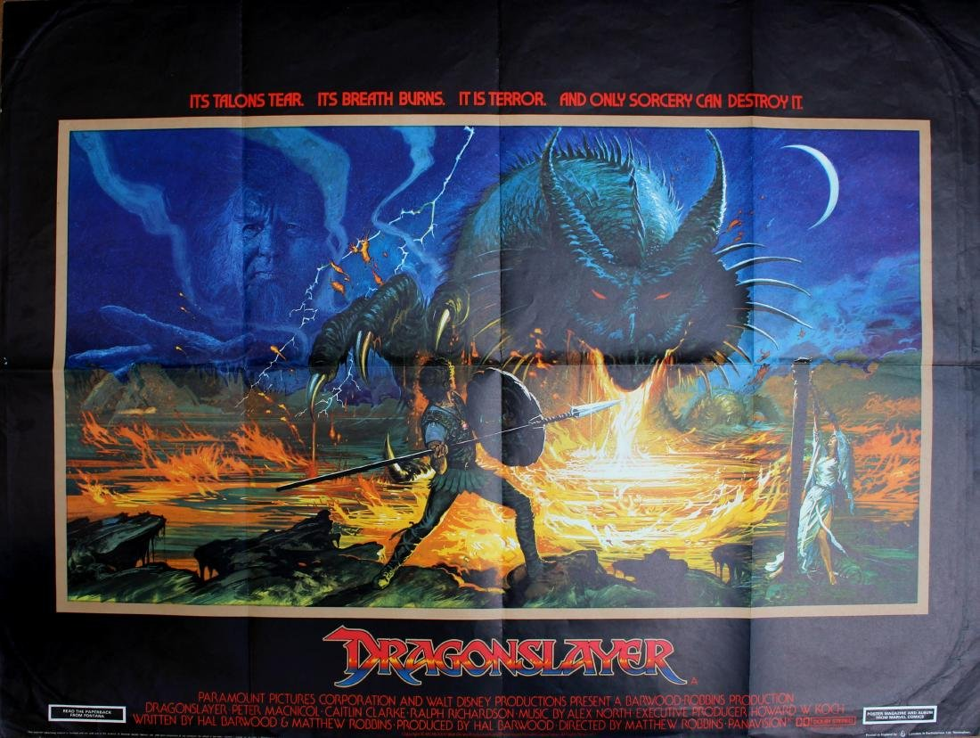 Movie Poster Dragonslayer Fantasy SciFi