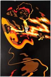Advertising Poster Jimi Hendrix Waldemar Swierzy 1972