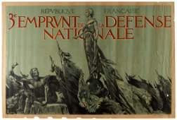 WWI War Poster France Defense Nationale Loan