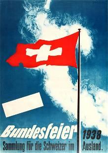 Advertising Poster Switzerland National Day Swiss