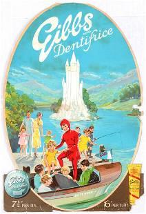 Advertising Poster Gibbs Dentifrice Tube Riva Boat