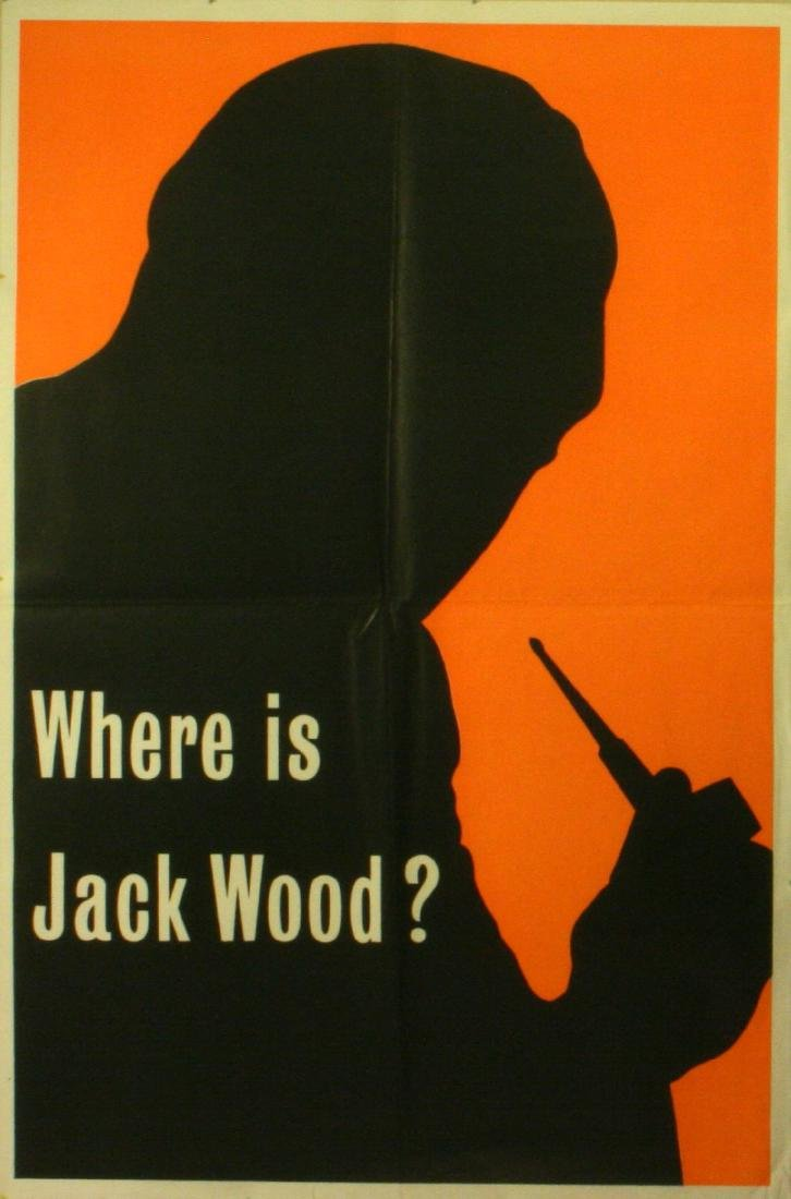 Advertising Poster Where is Jack Wood?