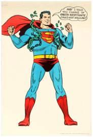 Advertising Poster Superman DC Comics Green Kryptonite