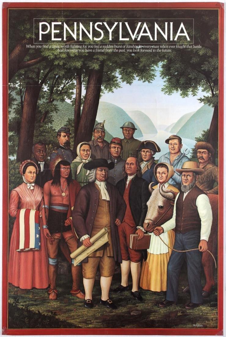 3 Travel Posters Alaska Northwest Mexico Pennsylvania - 2