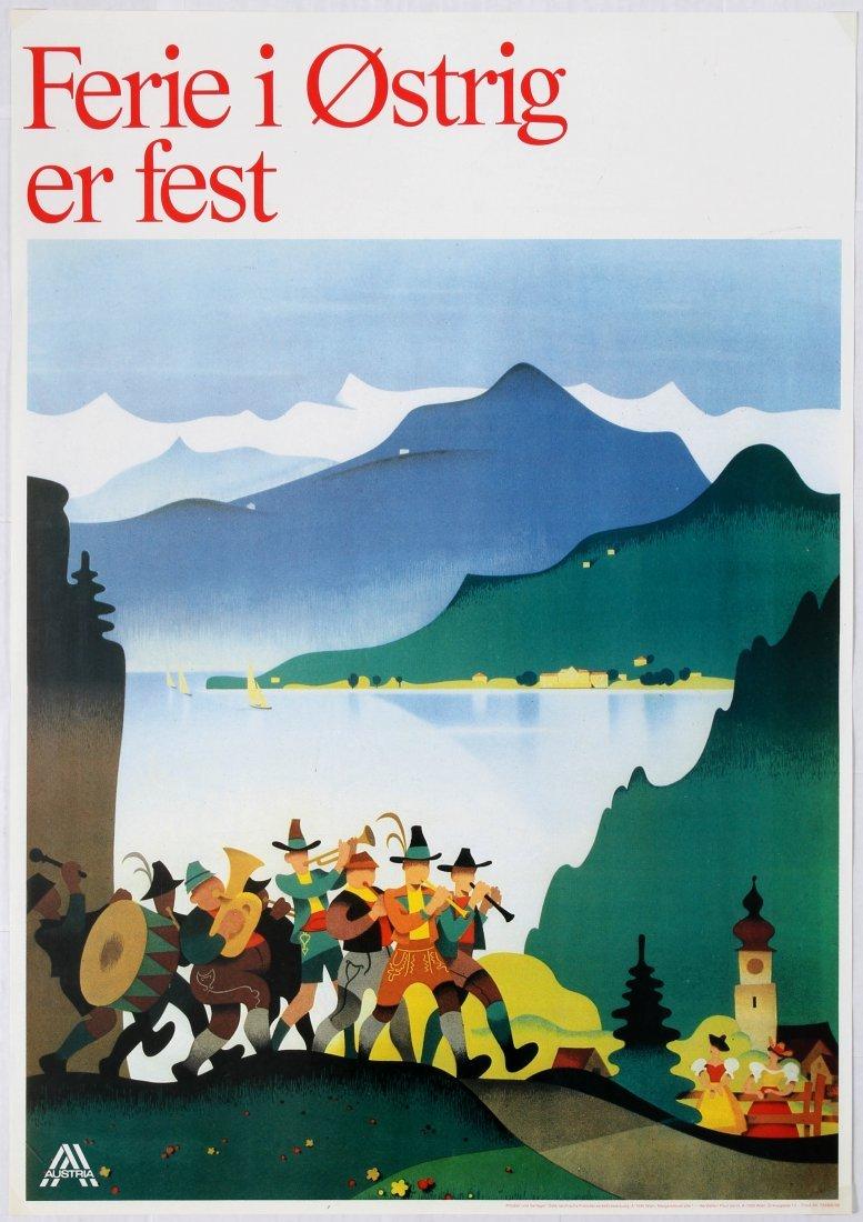 2 Travel Poster Austria Mountains Schloss Matzen