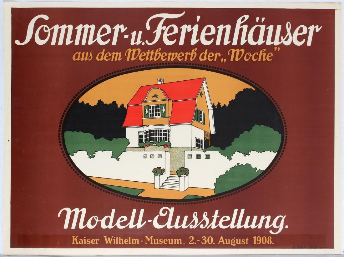Advertising Poster Model House Exhibition Art Nouveau
