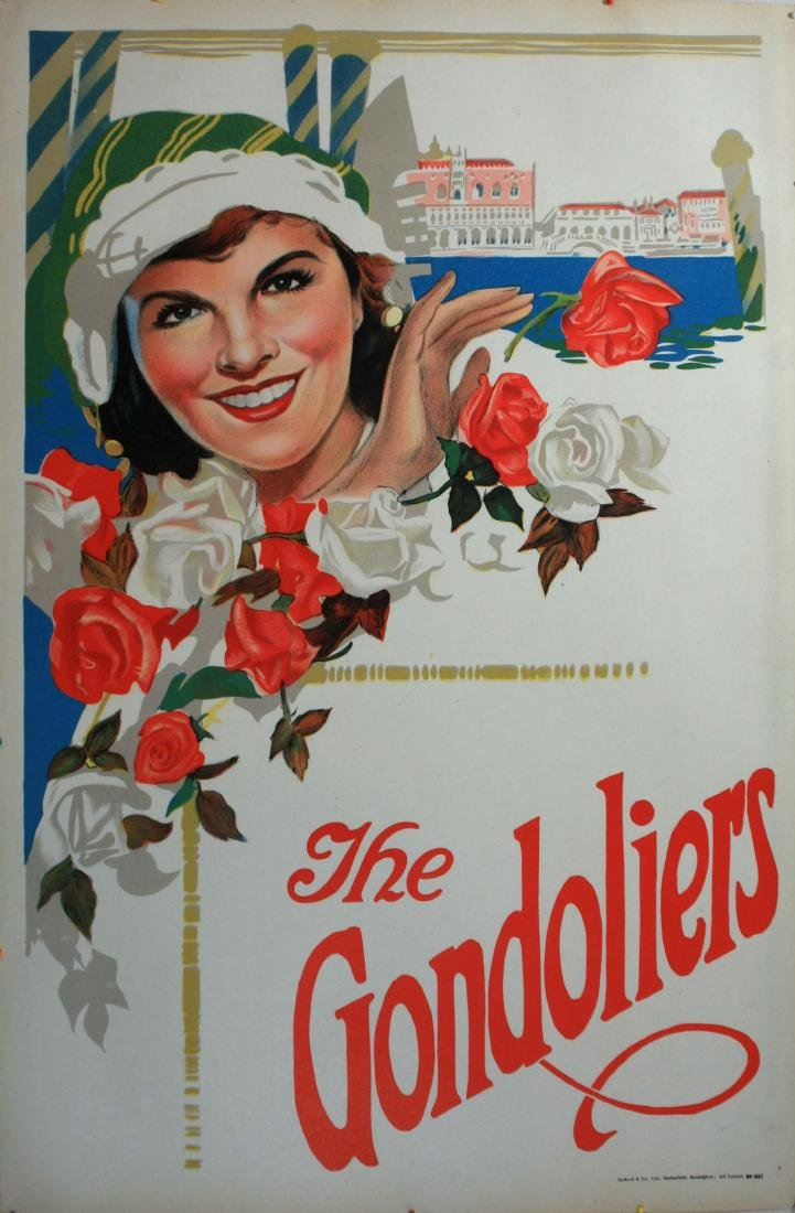 Advertising Poster The Gondoliers Musical Opera