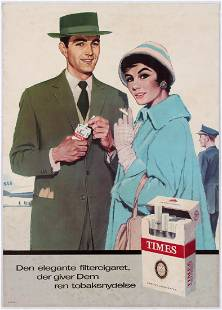 2 Tobacco Cigarette Advertising Posters Times Corner