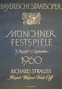 Advertising Poster Munich Opera Festival 1960