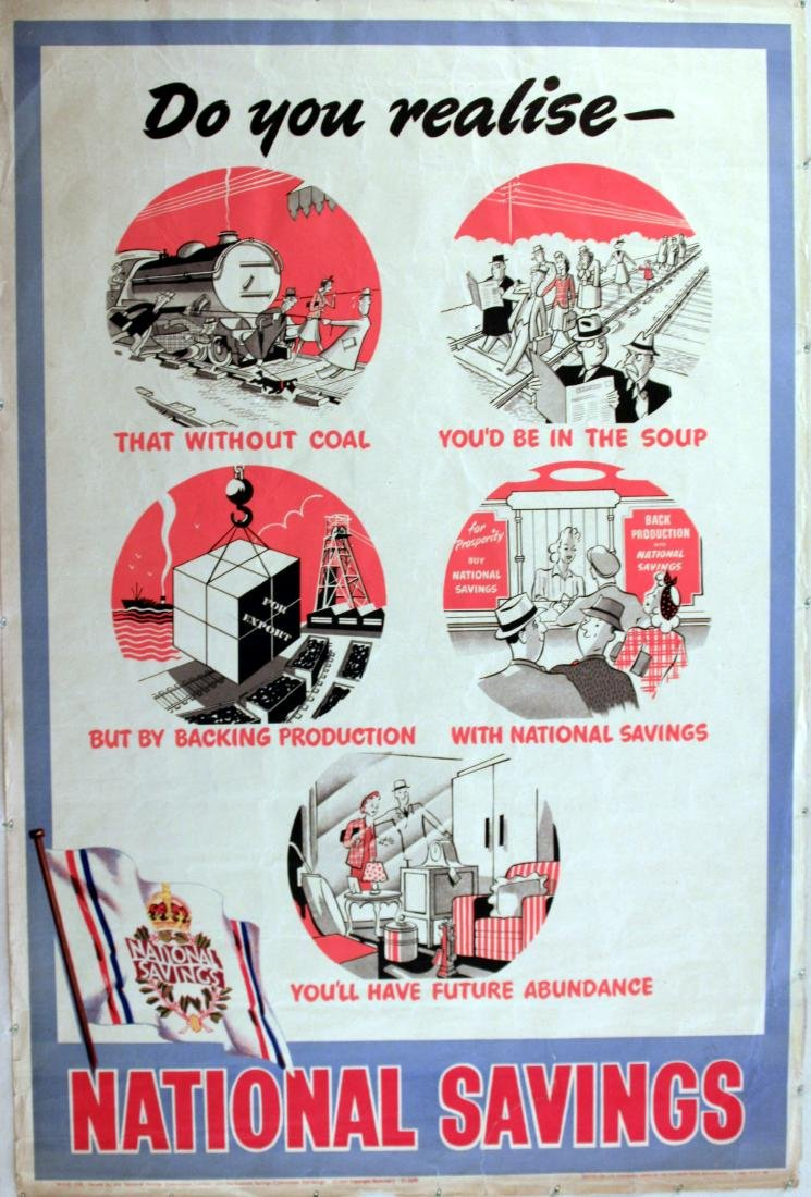 Advertising Poster National Savings Coal Production - Feb 02