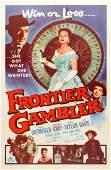 Movie Poster Frontier Gambler Western Gambling