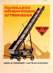 Advertising Poster Farm Equipment Ludwig Hohlwein