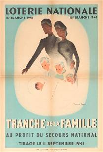 Advertising Poster Art Deco Loterie Nationale Family