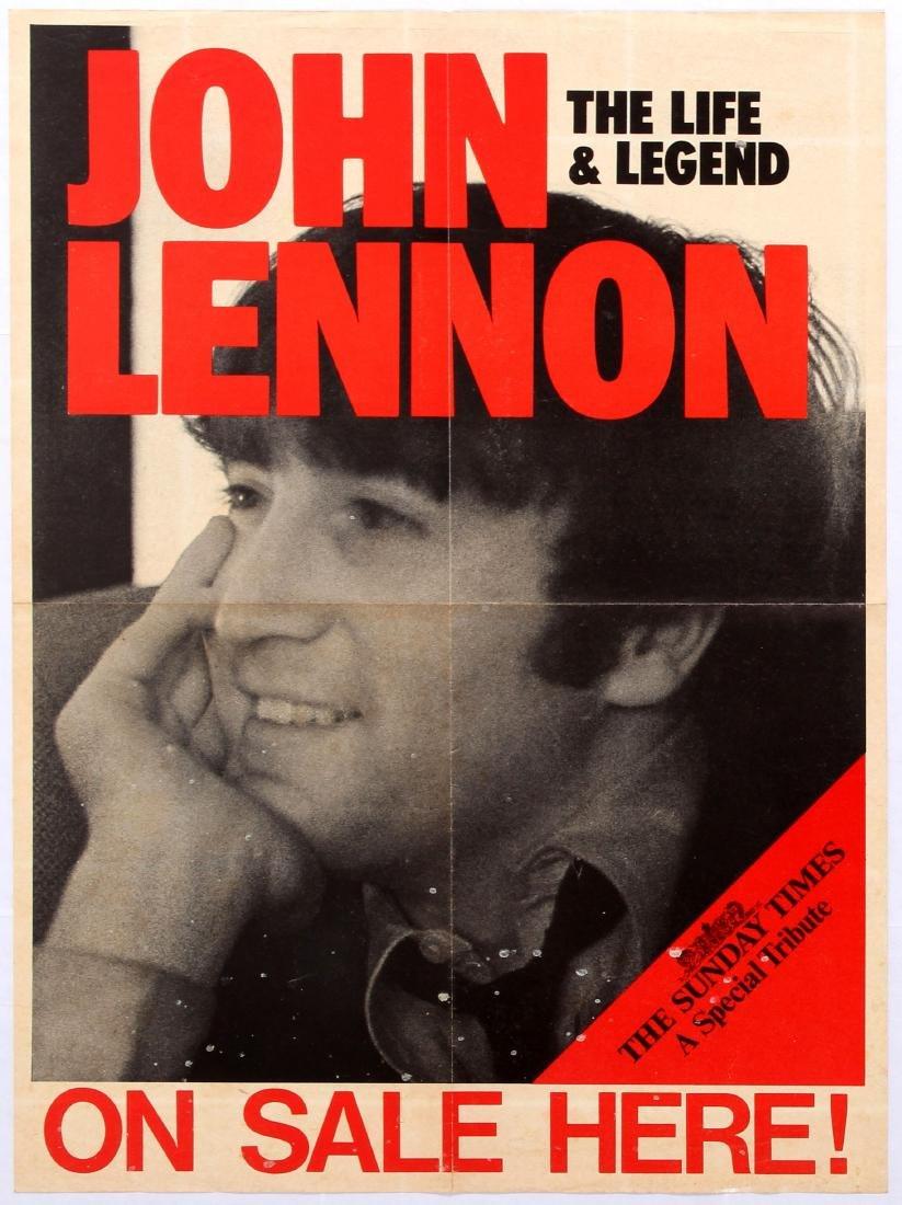 Advertising Poster The Sunday Times John Lennon Beatles