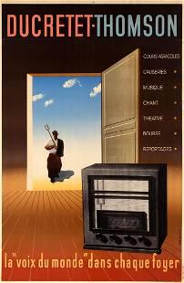 Advertising Poster Ducretet Thomson Radio Receiver